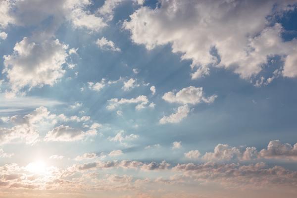 空がきれい…