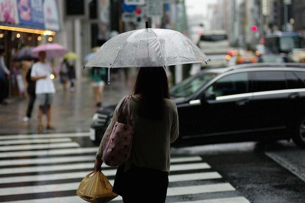 レインブーツと折り畳み傘